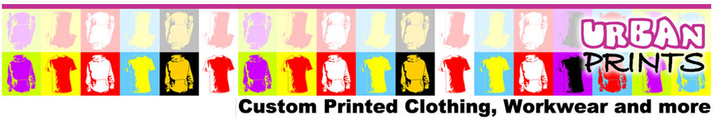 Urban Prints custom T-shirt and Hoody Printing, workwear and more.