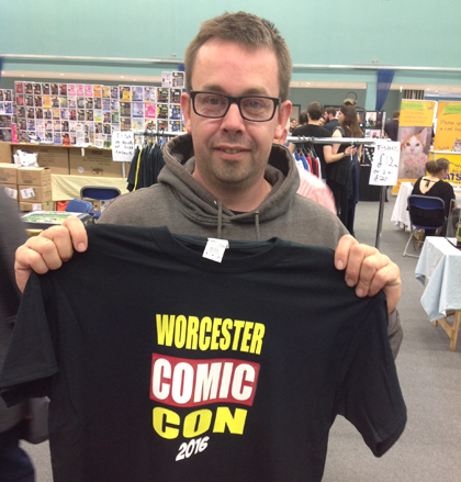 Worcester Comic Con T-Shirt Customer