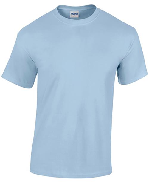 Light Blue Gildan Heavy Cotton T-Shirt