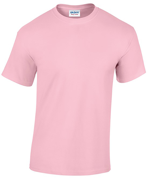 Light Pink Gildan Heavy Cotton T-Shirt