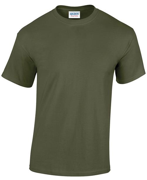Military Green Gildan Heavy Cotton T-Shirt