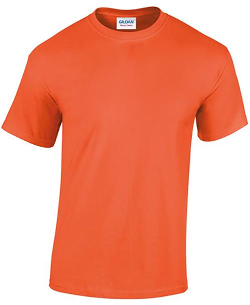 Orange Gildan Heavy Cotton T-Shirt
