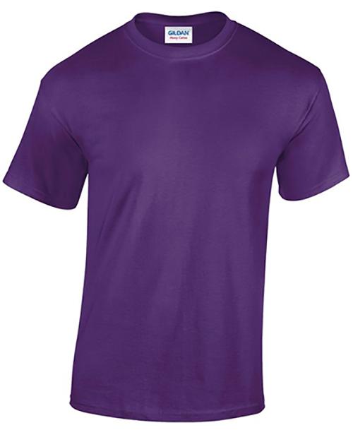 Purple Gildan Heavy Cotton T-Shirt