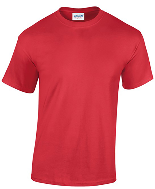 Red Gildan Heavy Cotton T-Shirt