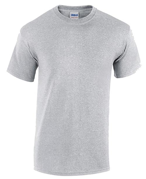 Sport Grey Gildan Heavy Cotton T-Shirt