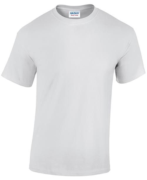 White Gildan Heavy Cotton T-Shirt